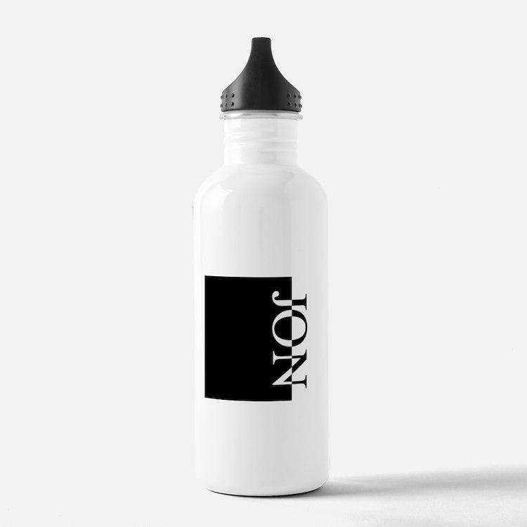 JON Typography Water Bottle