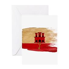 Gibraltar Flag Greeting Card
