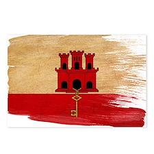 Gibraltar Flag Postcards (Package of 8)
