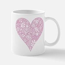 Pink Decorative Heart Mug