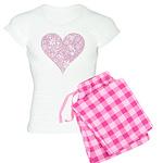 Pink Decorative Heart Women's Light Pajamas