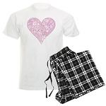 Pink Decorative Heart Men's Light Pajamas