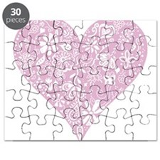 Pink Decorative Heart Puzzle