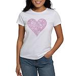 Pink Decorative Heart Women's T-Shirt