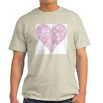Pink Decorative Heart Light T-Shirt