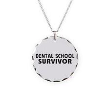 Dental School Survivor Necklace Circle Charm
