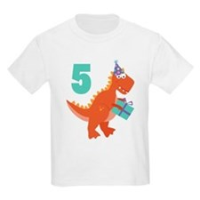 5th Birthday Dinosaur T-Shirt