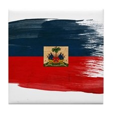 Haiti Flag Tile Coaster