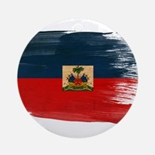 Haiti Flag Ornament (Round)