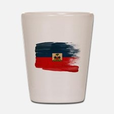 Haiti Flag Shot Glass