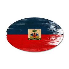Haiti Flag 22x14 Oval Wall Peel