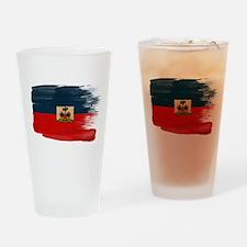 Haiti Flag Drinking Glass