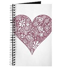 Mauve Purple Decorative Heart Journal