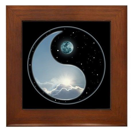 Sun & Moon Framed Tile