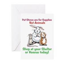 Pet Stores are for Supplies Greeting Cards (Packag