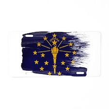 Indiana Flag Aluminum License Plate