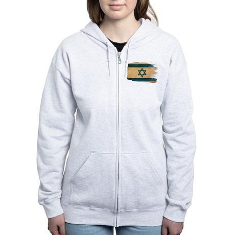 Israel Flag Women's Zip Hoodie