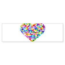 Rainbow Heart of Hearts Bumper Sticker