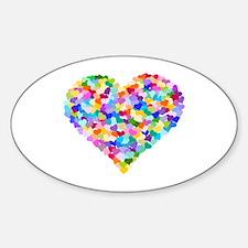 Rainbow Heart of Hearts Decal