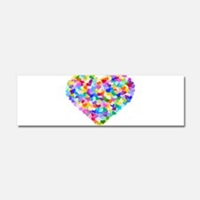 Rainbow Heart of Hearts Car Magnet 10 x 3