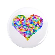 """Rainbow Heart of Hearts 3.5"""" Button (100 pack)"""