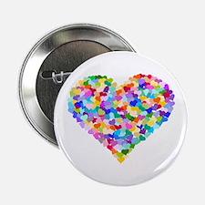 "Rainbow Heart of Hearts 2.25"" Button"