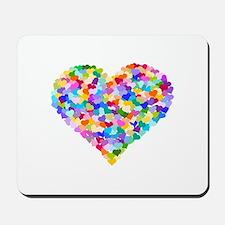 Rainbow Heart of Hearts Mousepad