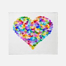 Rainbow Heart of Hearts Throw Blanket