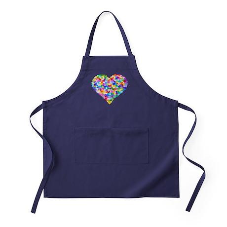 Rainbow Heart of Hearts Apron (dark)