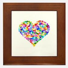 Rainbow Heart of Hearts Framed Tile