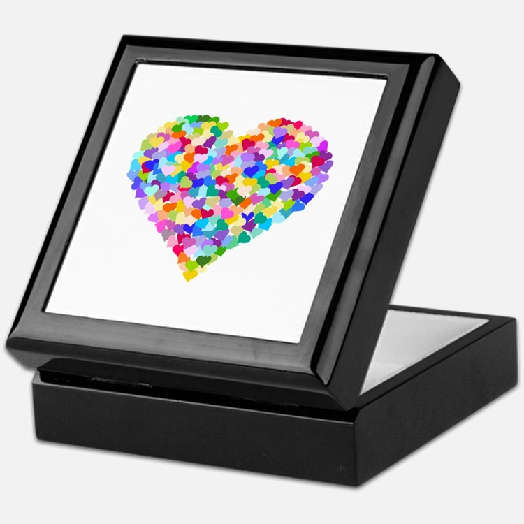 Rainbow Heart of Hearts Keepsake Box