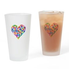 Rainbow Heart of Hearts Drinking Glass