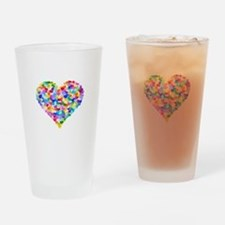 Rainbow Heart of Hearts Drinking Glass