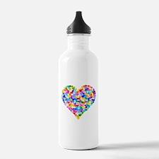 Rainbow Heart of Hearts Water Bottle