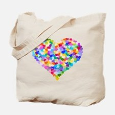 Rainbow Heart of Hearts Tote Bag