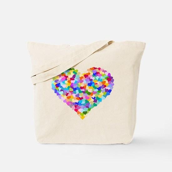 Rainbow Heart of Hearts Tote Bag