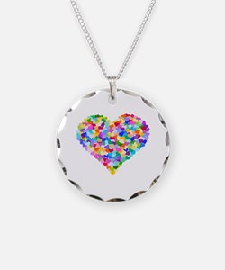 Rainbow Heart of Hearts Necklace