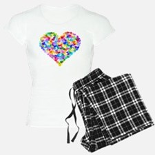 Rainbow Heart of Hearts Pajamas