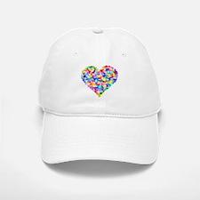 Rainbow Heart of Hearts Baseball Baseball Cap
