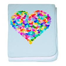 Rainbow Heart of Hearts baby blanket