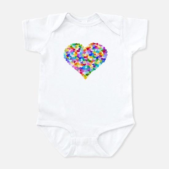 Rainbow Heart of Hearts Infant Bodysuit
