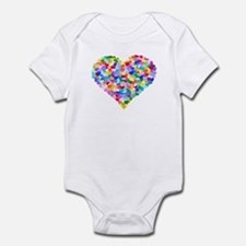 Rainbow Heart of Hearts Onesie