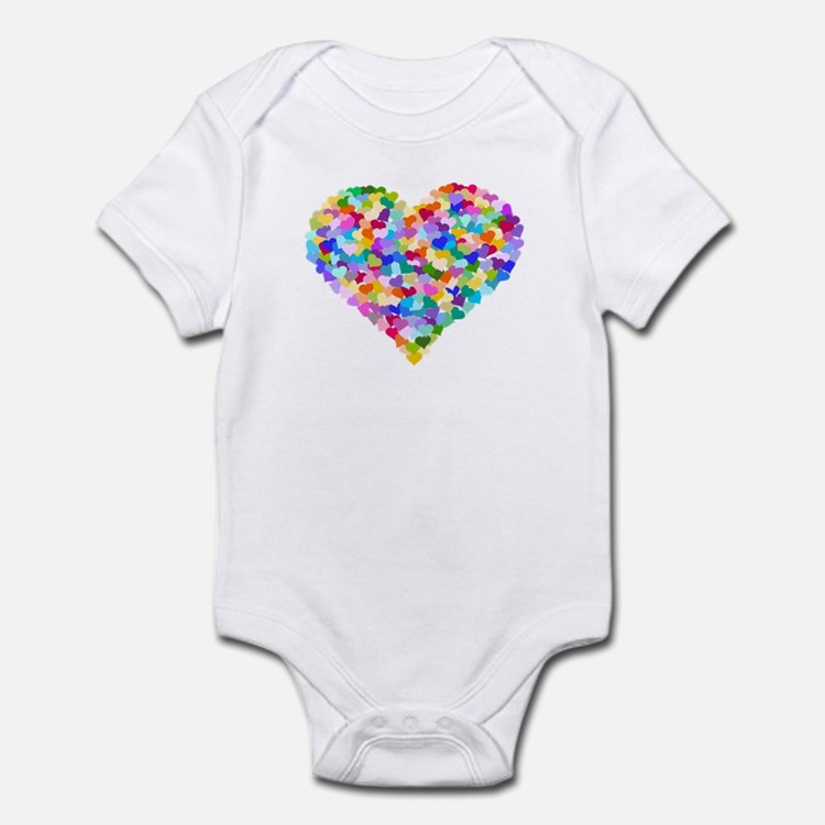 Rainbow Heart of Hearts Onesie
