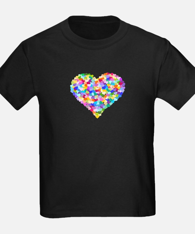 Rainbow Heart of Hearts T