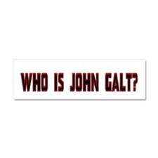 Who is John Galt Car Magnet 10 x 3