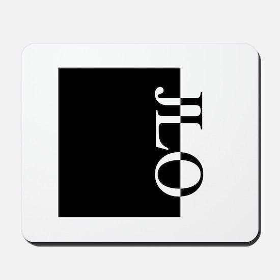 JLO Typography Mousepad