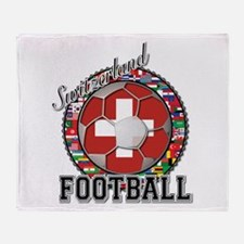 Switzerland Flag World Cup Fo Throw Blanket