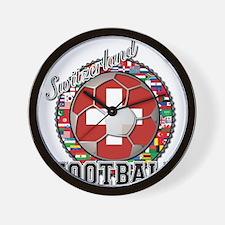 Switzerland Flag World Cup Fo Wall Clock