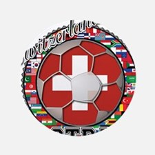 """Switzerland Flag World Cup Fo 3.5"""" Button (100 pac"""