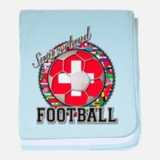 Switzerland Flag World Cup Fo baby blanket